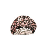 Danielle Pink Leopard Print Shower Cap