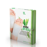 Dr Gem Natural Detox Foot Patches~ Pack of 10