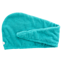 Danielle Argan Oil Infused Cyan Turban Hair Towel