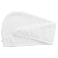 Danielle Coconut Oil Infused White Turban Hair Towel