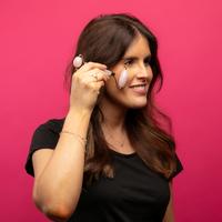 Danielle Dual Ended Rose Quartz Facial Roller Massager