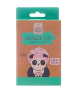 Full Circle Beauty Eco Panda Pink Pandas Print Shower Cap
