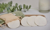Eco Green Reusable Bamboo Makeup Remover Pads x 8