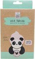 Eco Panda Bamboo Fibre Pink Hair Drying Turban Towel