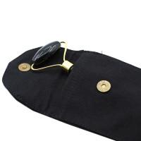 Black Obsidian Gemstone Facial Roller Massager + Cotton Pouch