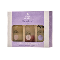 Inner Balance Unwind Bath Oils Trio Gift Set 3x100ml