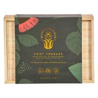 Wanderflower Eucalyptus & Mint Foot Therapy 3 Piece Boxed Gift Set