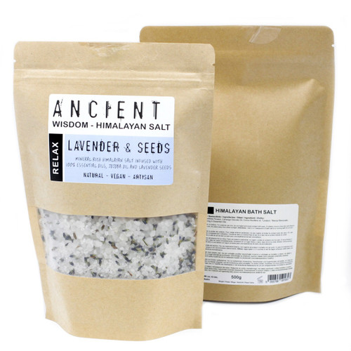 Himalayan Bath Salts Relax Blend with Lavender & Jojoba 500g