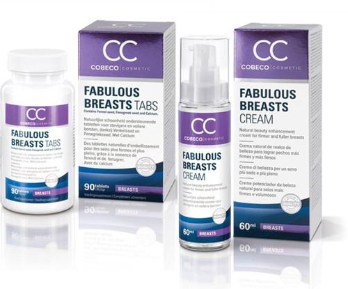 Fabulous Breasts Bust Enhancement Cream & Supplement Set