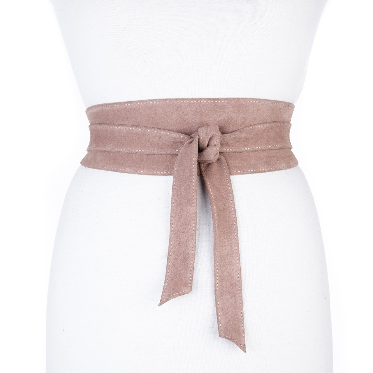 dbbeb6cd9ce2e9 NIDA LEATHER WRAP BELT IN BLUSH SUEDE - BRAVE Leather