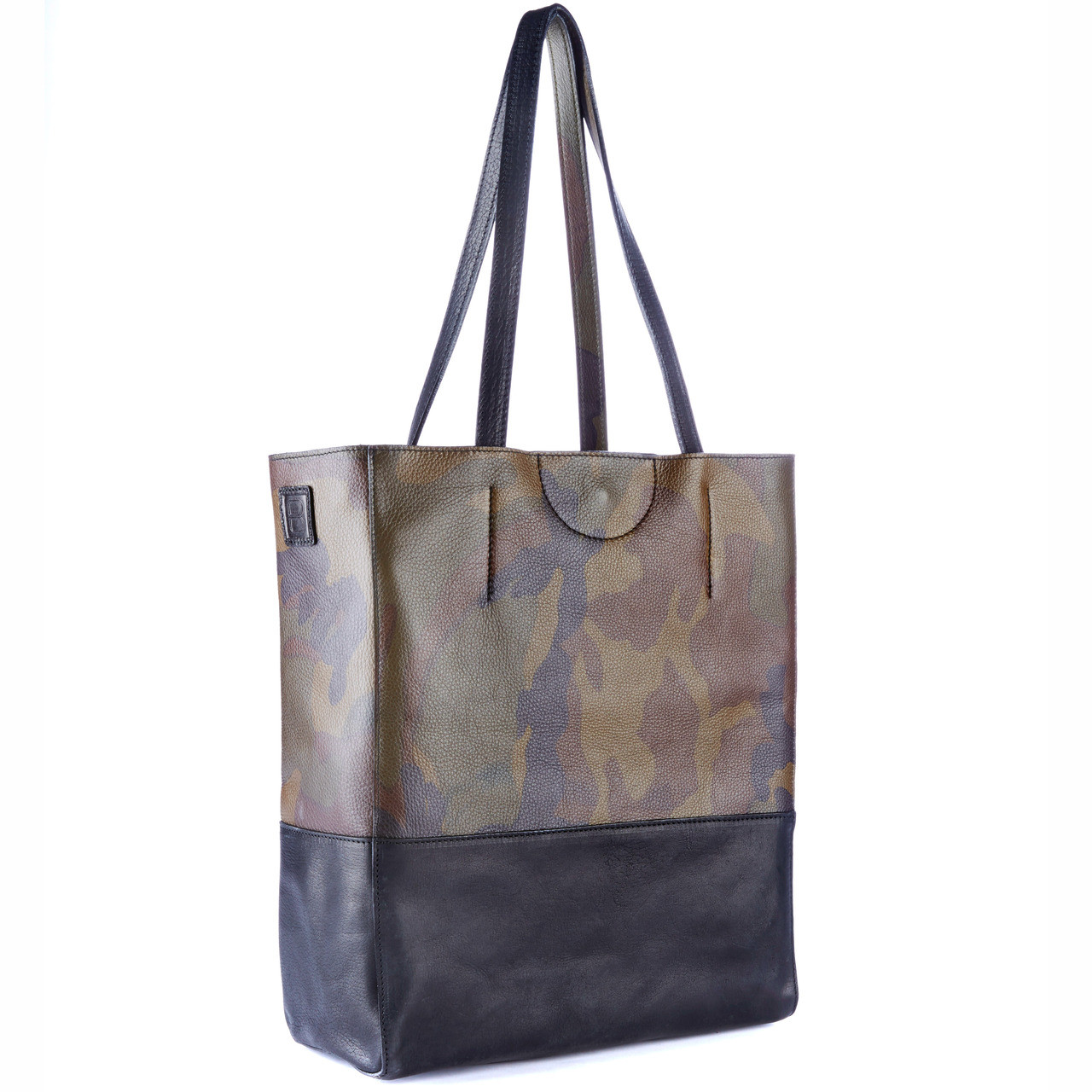 354b0dd3c1 Saloso Camouflage Leather Tote