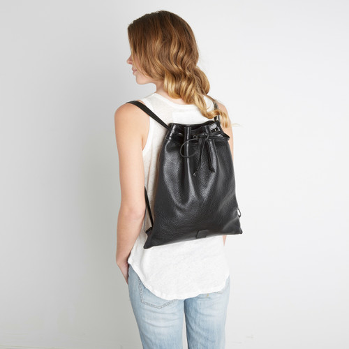 719212dffc97 JIN LEATHER DRAWSTRING BACKPACK - BRAVE Leather