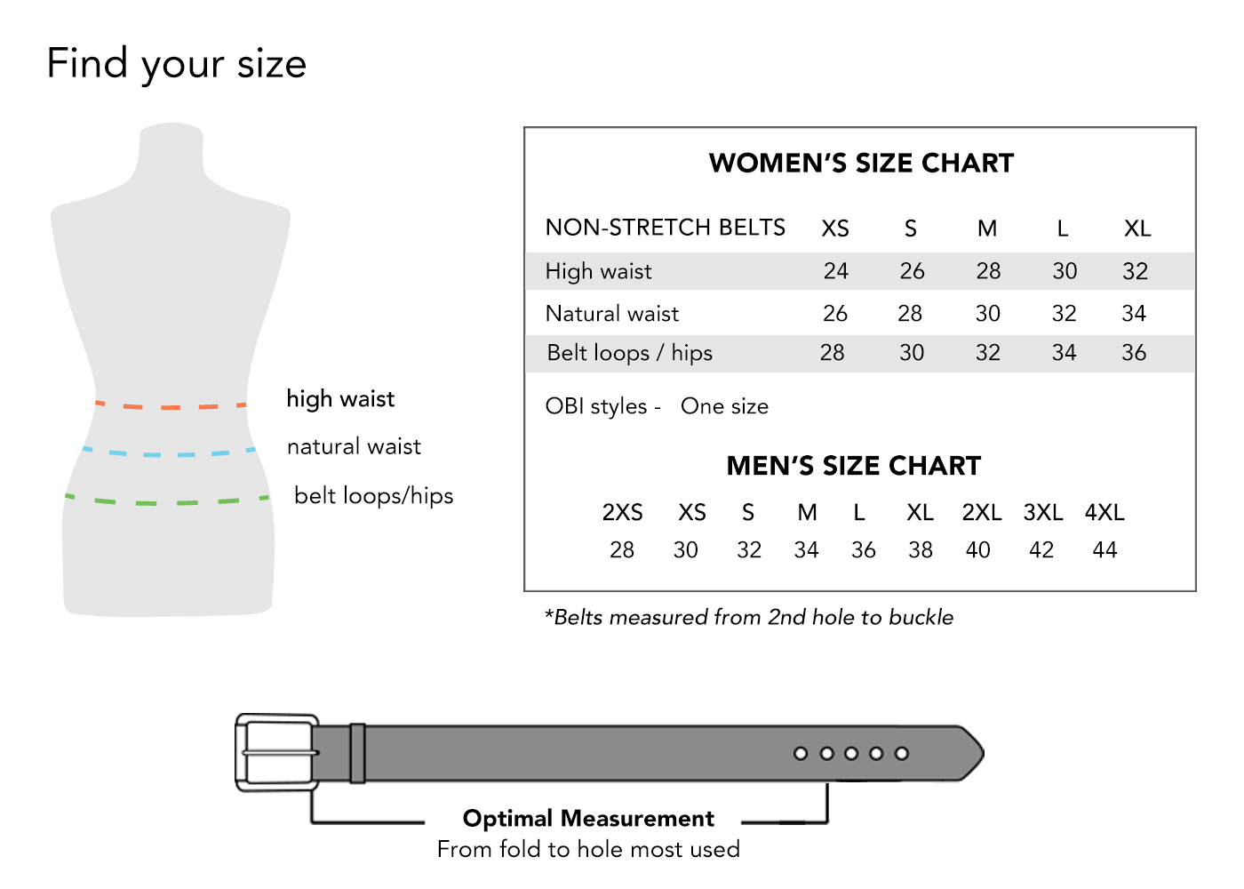 Fit and Sizing - How to Find your Belt Size | BRAVE Leather