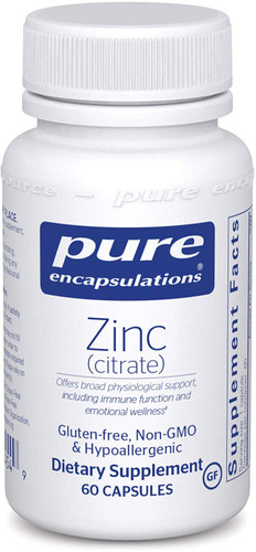 Zinc Citrate is a very important mineral and this form of the mineral is one of the most easily absorbed. It's involved in many essential physiological functions. One of these functions is supporting the formation of collagen and tissues.  Furthermore' zinc plays a vital role in strengthening your immune system. Perhaps most important is zinc's potential to support your body's ability to digest and metabolize nutrients. One capsule of Zinc Citrate contains 30 milligrams of zinc' along with fat-soluble vitamin C to further boost its effectiveness.