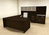 7pc U Shaped Modern Executive Office Desk, #OT-SUL-U48
