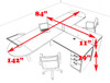 Two Person L Shaped Modern Divider Office Workstation Desk Set, #CH-AMB-SP20
