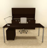 4pc Modern Contemporary Executive Office Desk Set, #OF-CON-D10