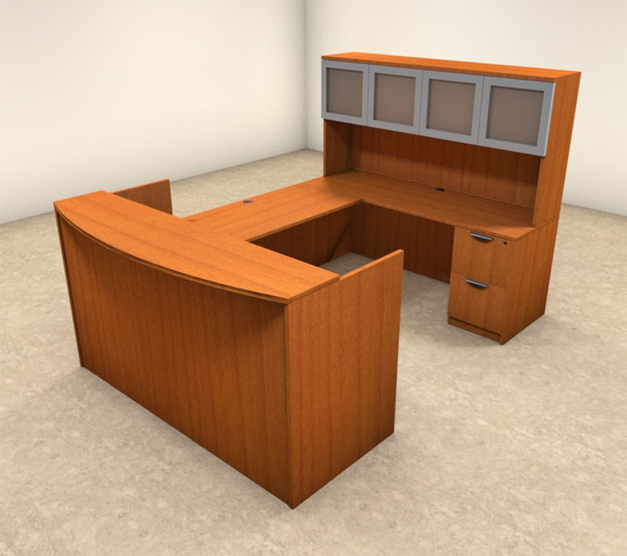 5pc U Shaped Modern Office Reception Desk Set, #OT-SUL-R9