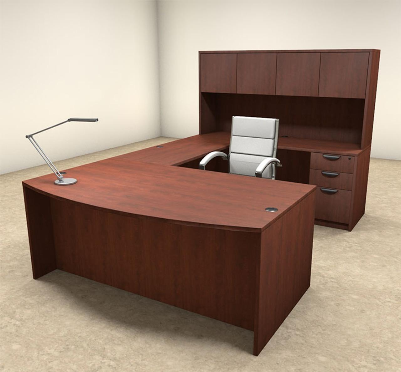 5pc U Shaped Modern Executive Office Desk, #OT-SUL-U14