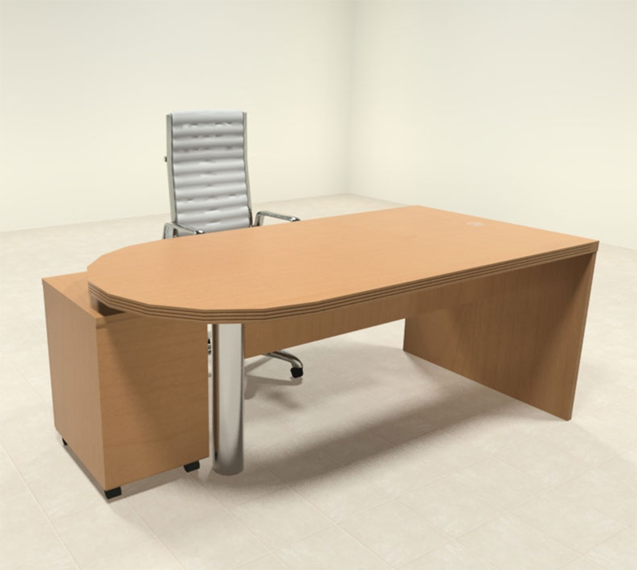 2pc Modern Contemporary Executive Office Desk Set, #RO-ABD-D1