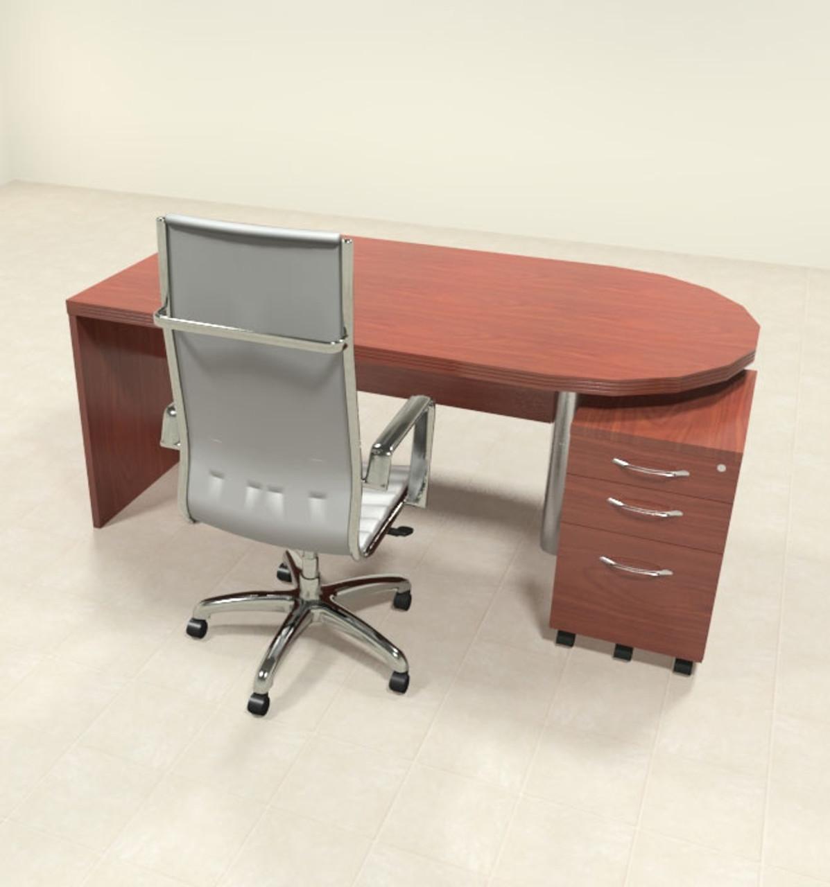 2pc Modern Contemporary Executive Office Desk Set, #RO-ABD-D2