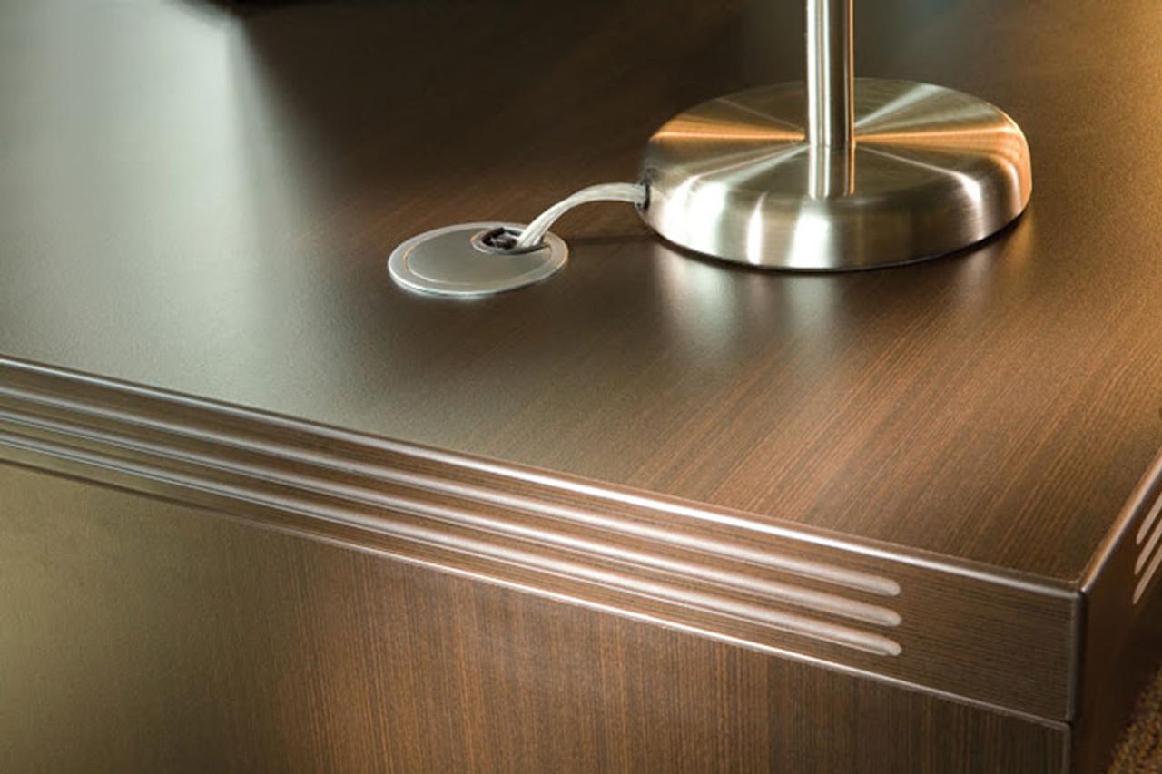 4pc Modern Contemporary U Shaped Glass Reception Desk Set, #RO-ABD-R9