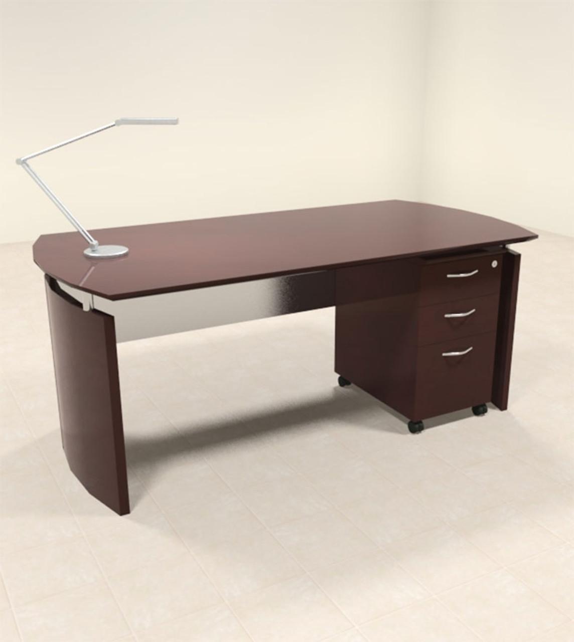 2pc Modern Contemporary Executive Office Desk Set, #RO-NAP-D3