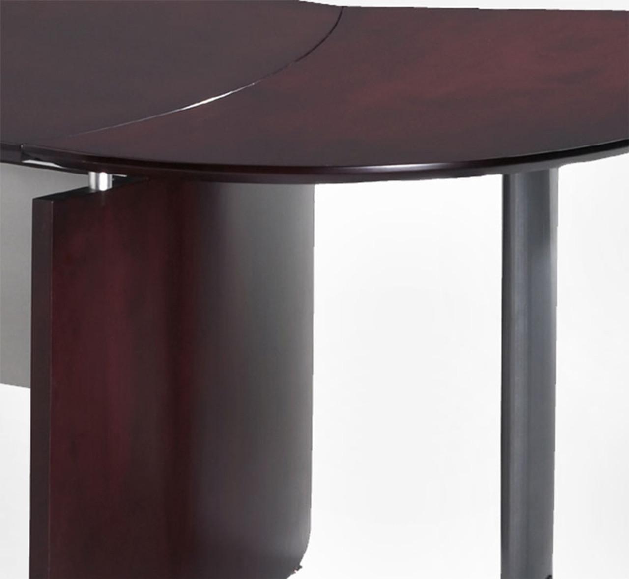 6pc Modern Contemporary U Shape Executive Office Desk Set, #RO-NAP-U14