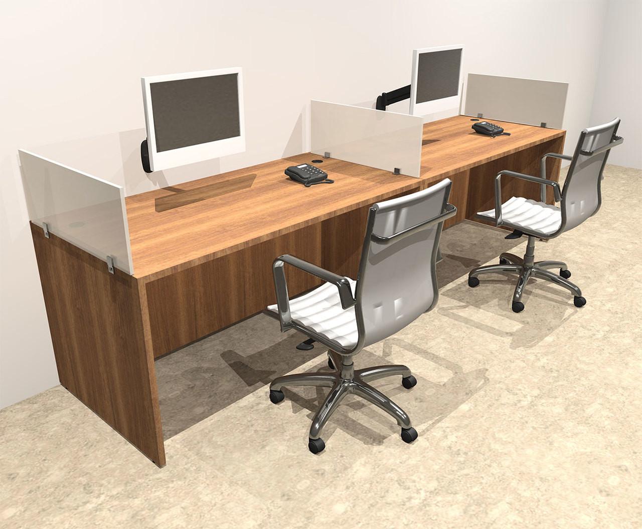 Two Person Divider Modern Office Workstation Desk Set, #OT-SUL-SP1