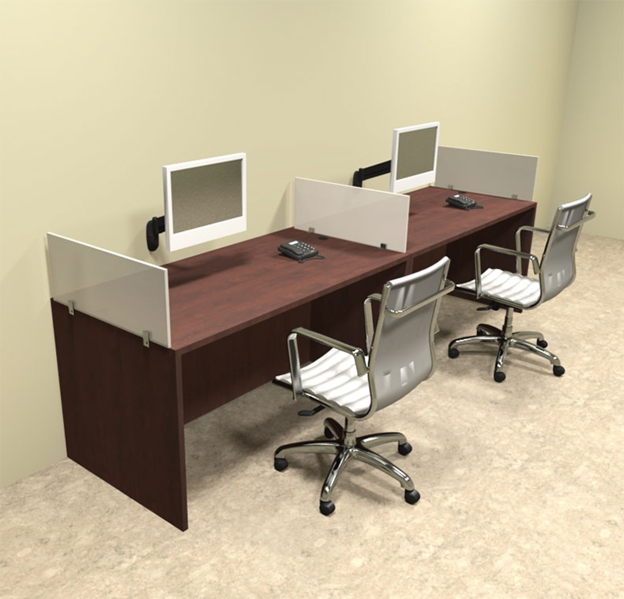 Two Person Divider Modern Office Workstation Desk Set, #OT-SUL-SP2