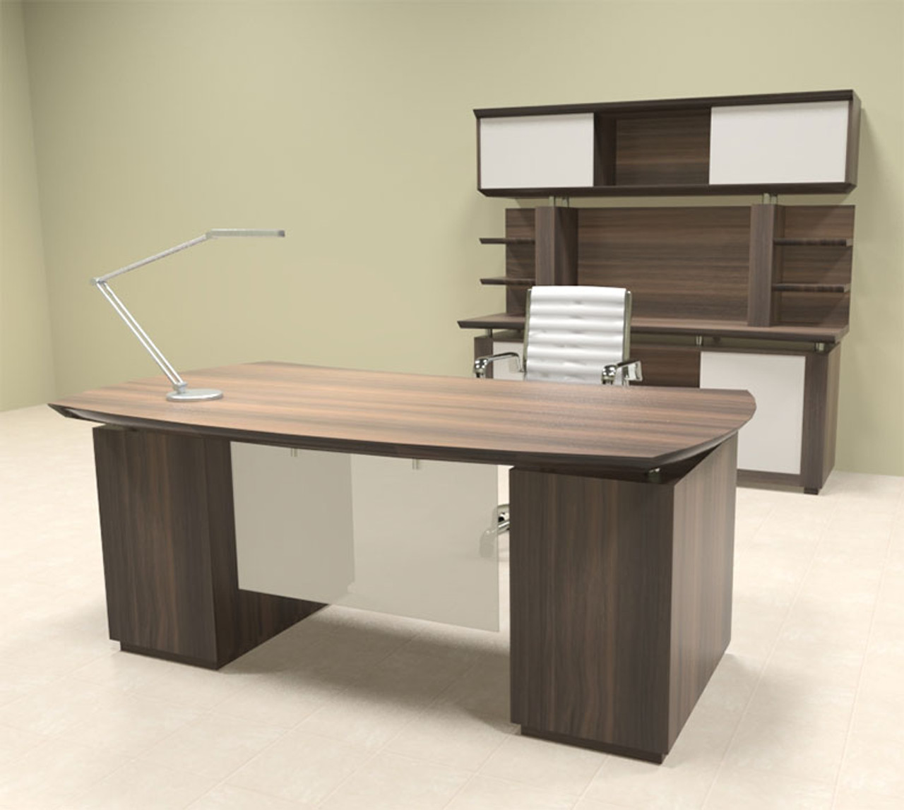 5pc Modern Contemporary Executive Office Desk Set, #MT-STE-D8