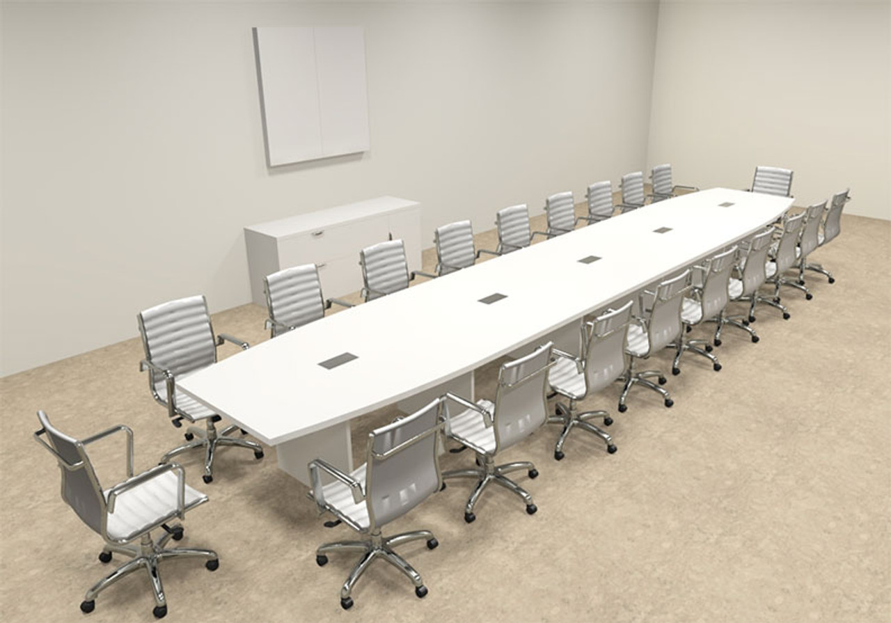 Modern Boat Shaped 22' Feet Conference Table, #OF-CON-C128