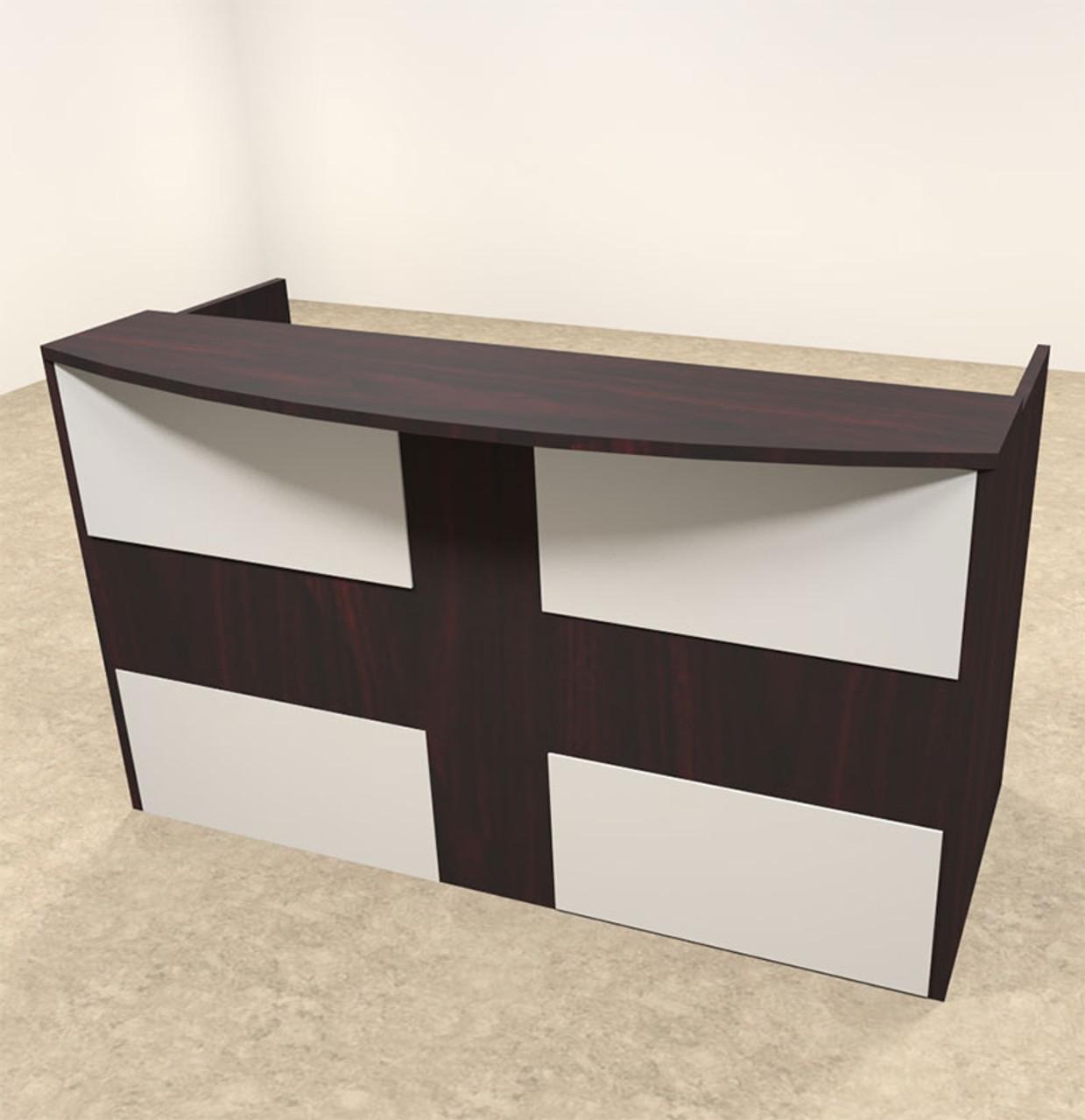 2pc Rectangular Modern Acrylic Panel Office Reception Desk, #OT-SUL-R15