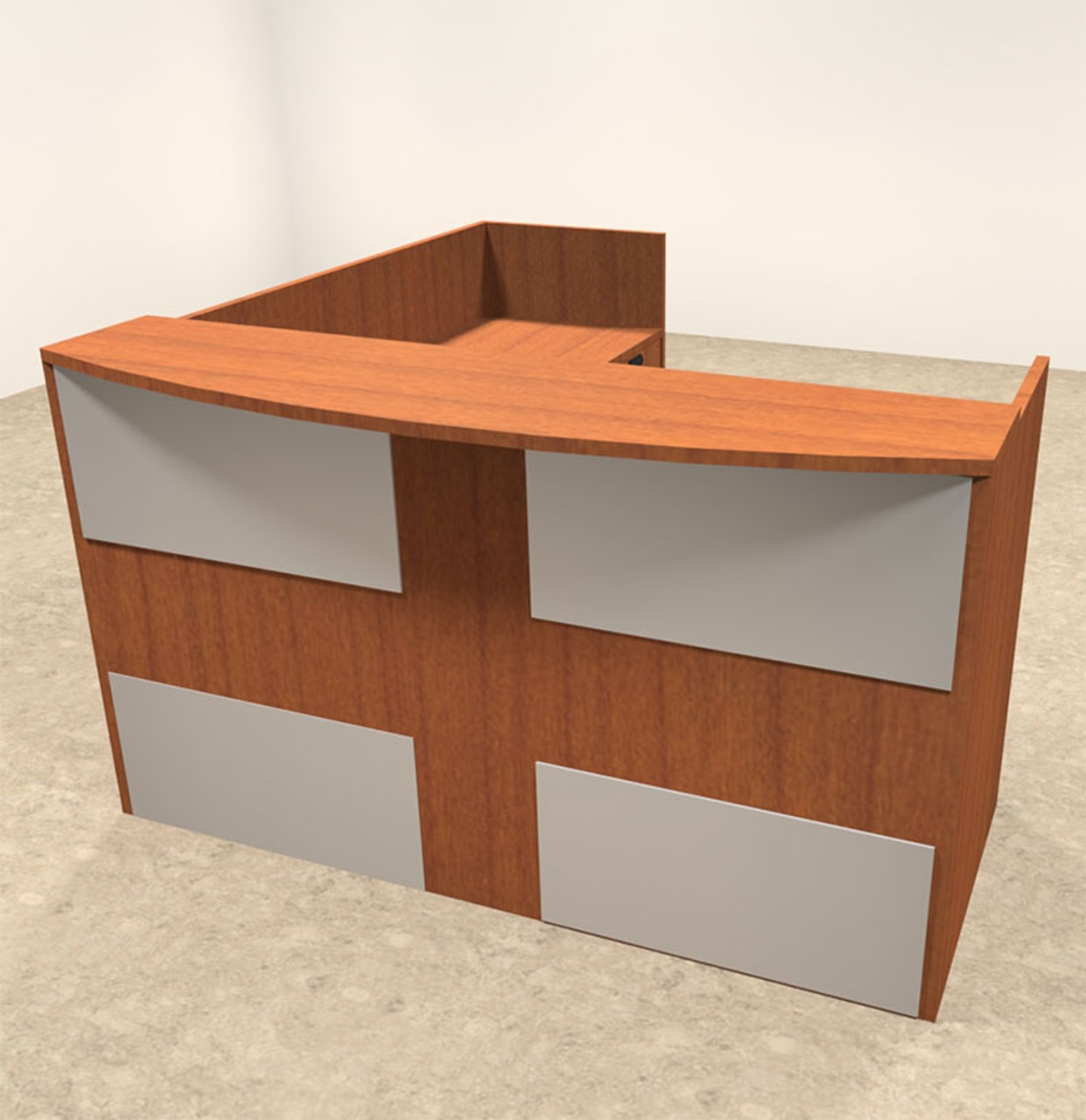3pc L Shaped Modern Acrylic Panel Office Reception Desk, #OT-SUL-R21