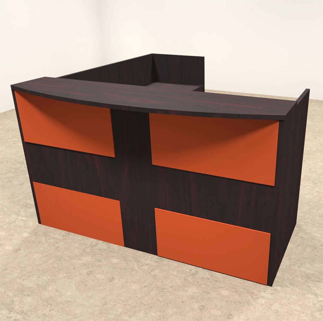 3pc L Shaped Modern Acrylic Panel Office Reception Desk, #OT-SUL-RO35