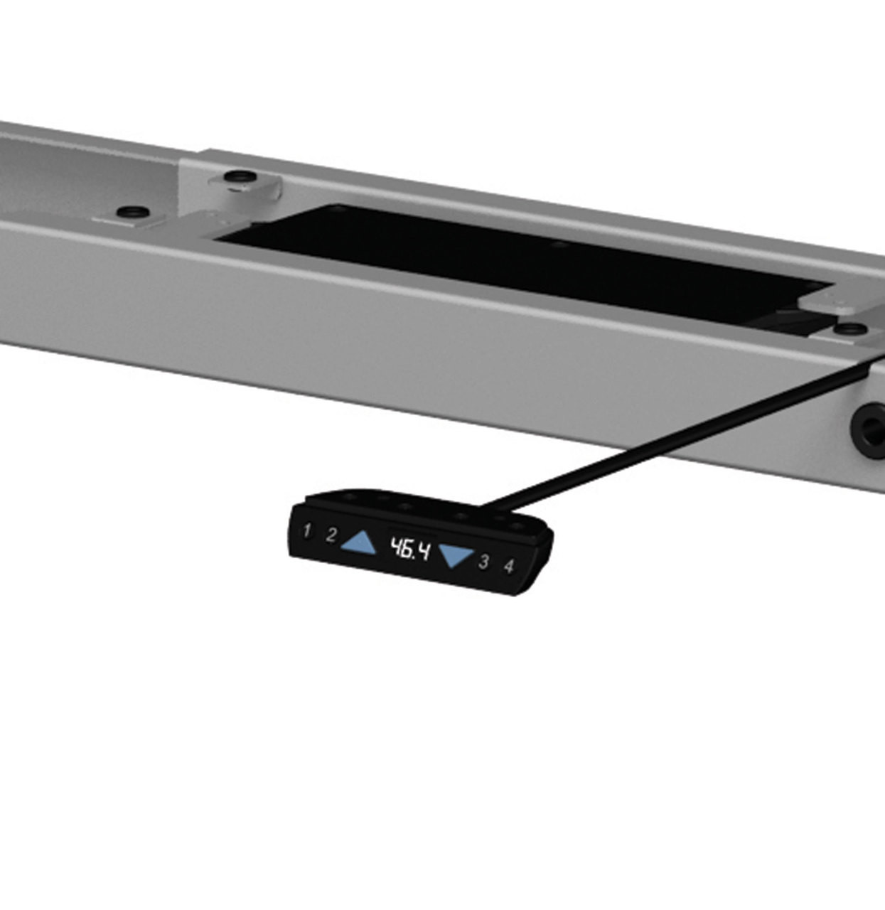 Four Persons Modern Power Adjustable Divider Workstation, #OF-CON-HP23