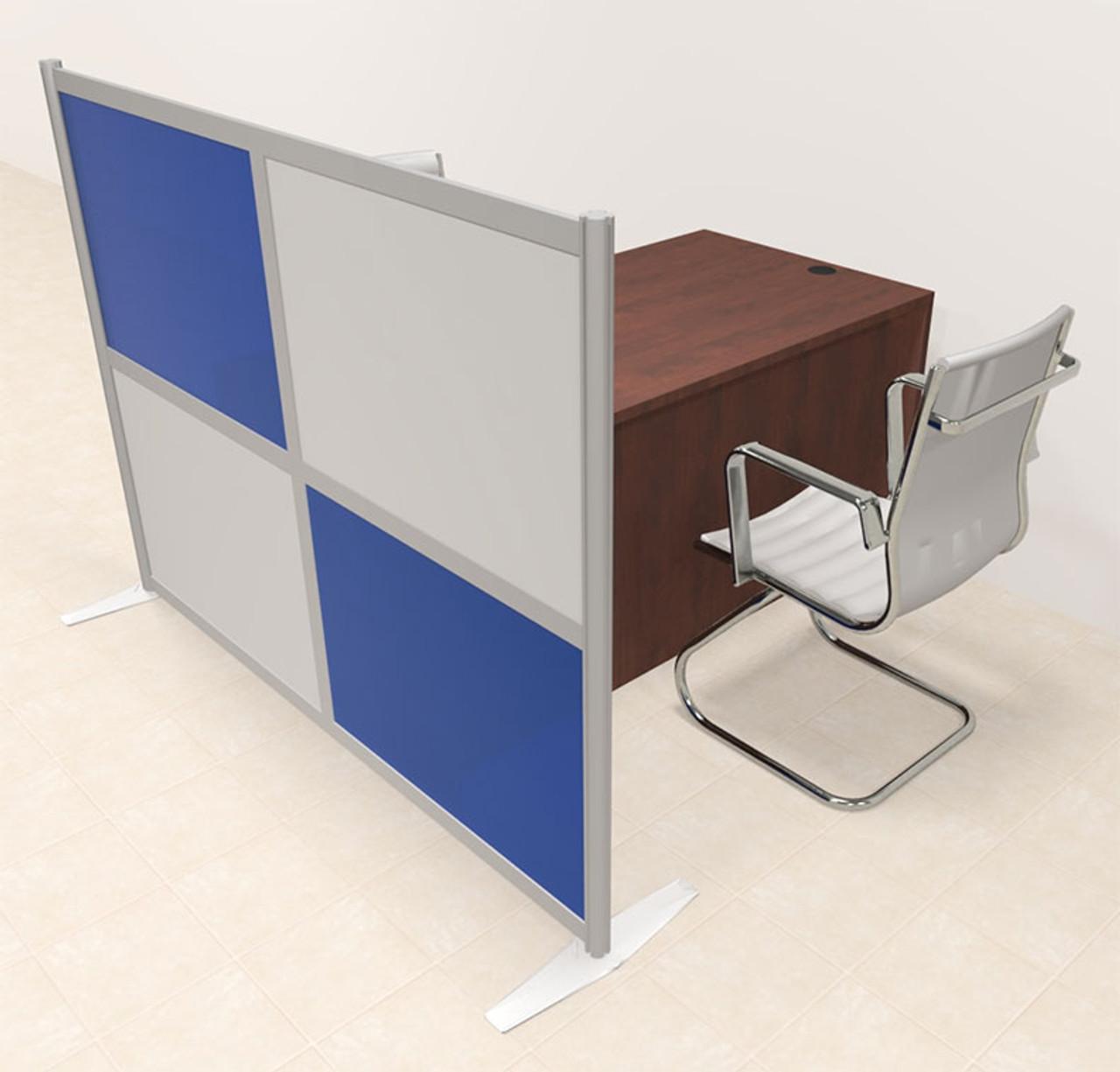 One Person Workstation w/Acrylic Aluminum Privacy Panel, #OT-SUL-HPB14