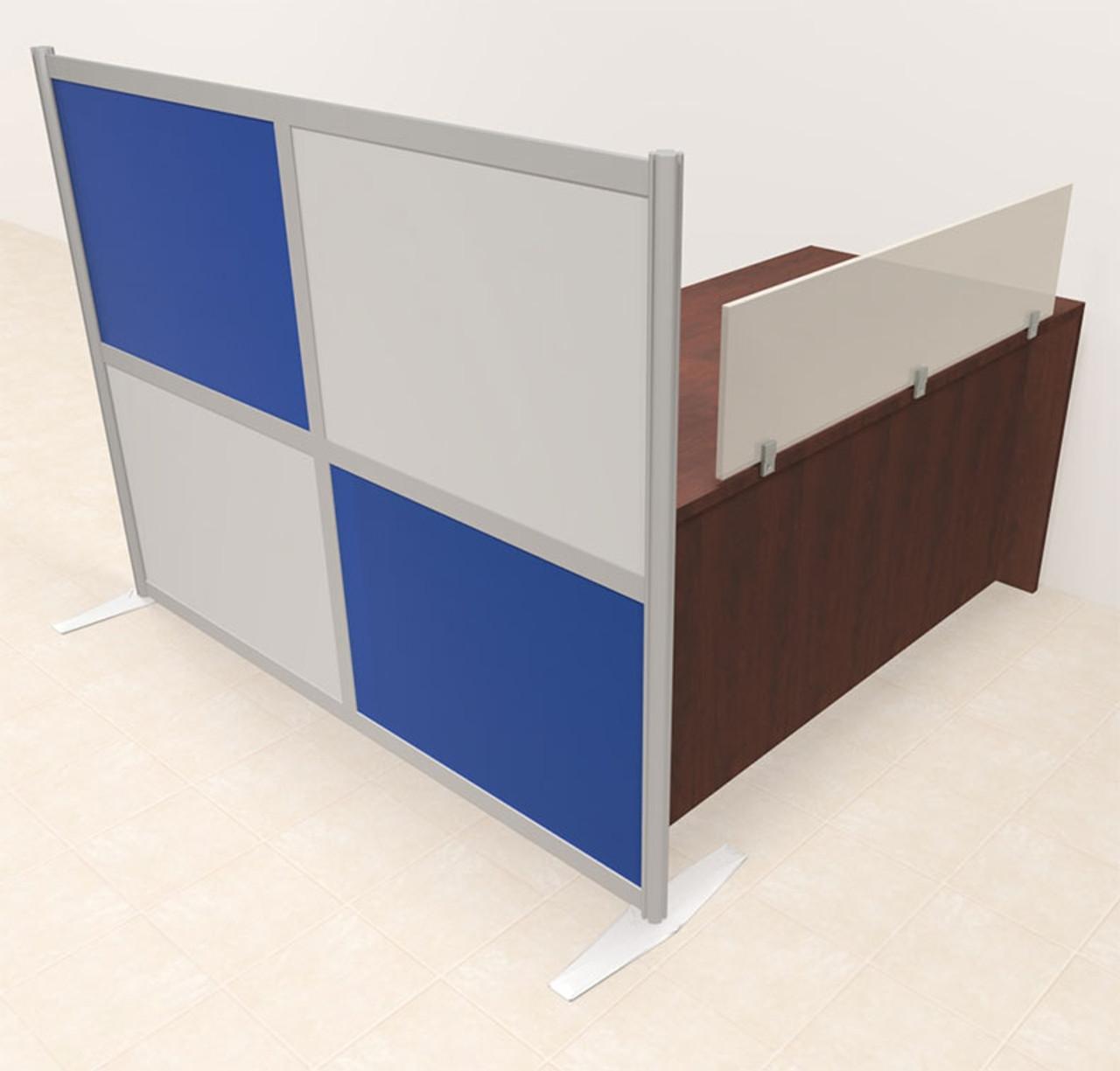 One Person Workstation w/Acrylic Aluminum Privacy Panel, #OT-SUL-HPB2