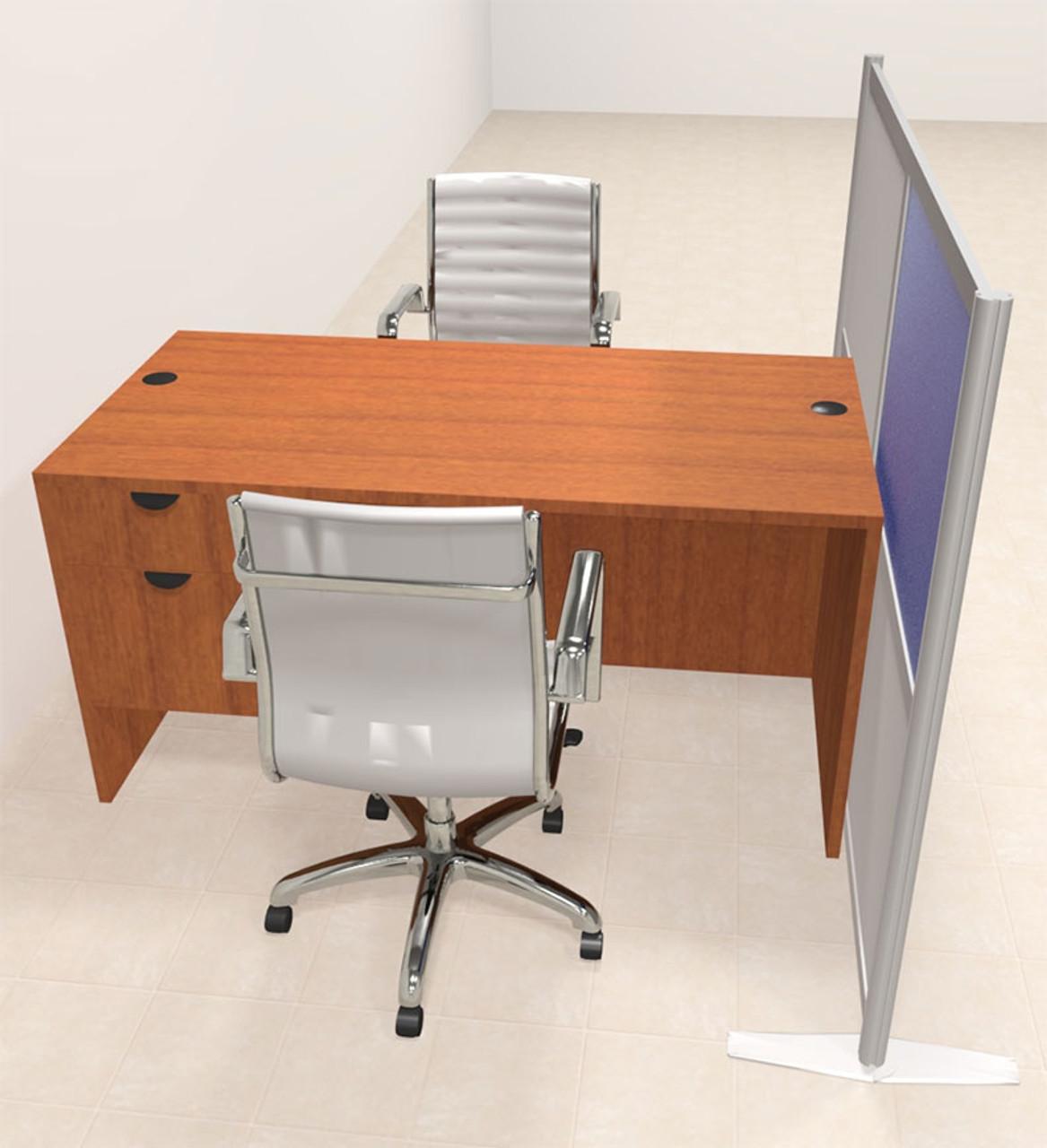 One Person Workstation w/Acrylic Aluminum Privacy Panel, #OT-SUL-HPB49