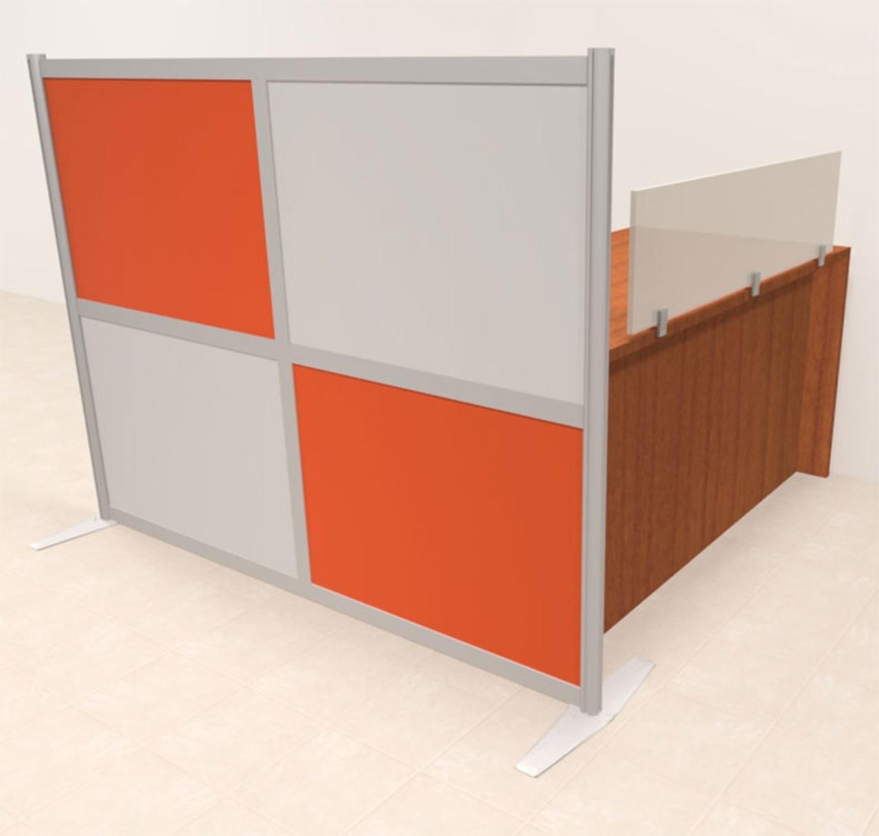 One Person Workstation w/Acrylic Aluminum Privacy Panel, #OT-SUL-HPO109