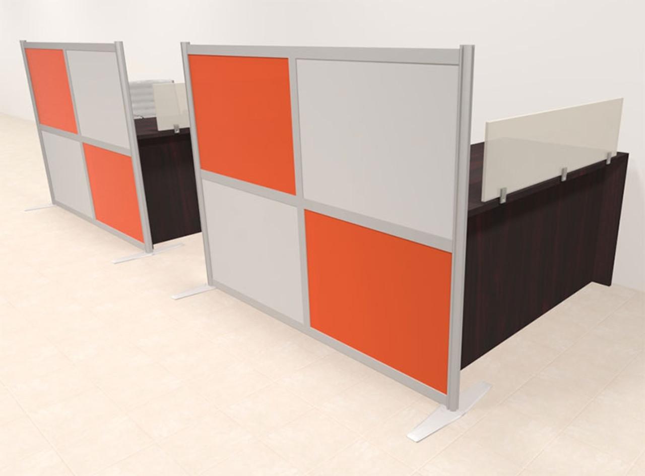 Two Person Workstation w/Acrylic Aluminum Privacy Panel, #OT-SUL-HPO115