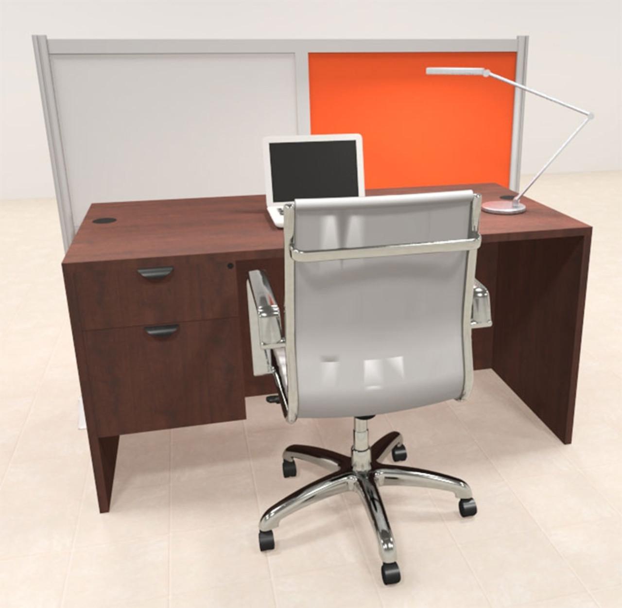 One Person Workstation w/Acrylic Aluminum Privacy Panel, #OT-SUL-HPO134