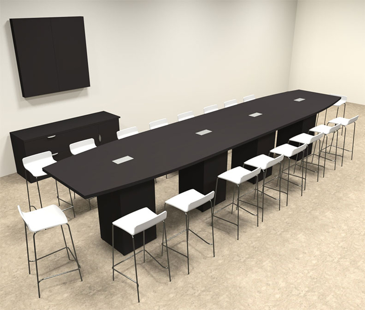 Boat Shape Counter Height 18' Feet Conference Table, #OF-CON-CT30