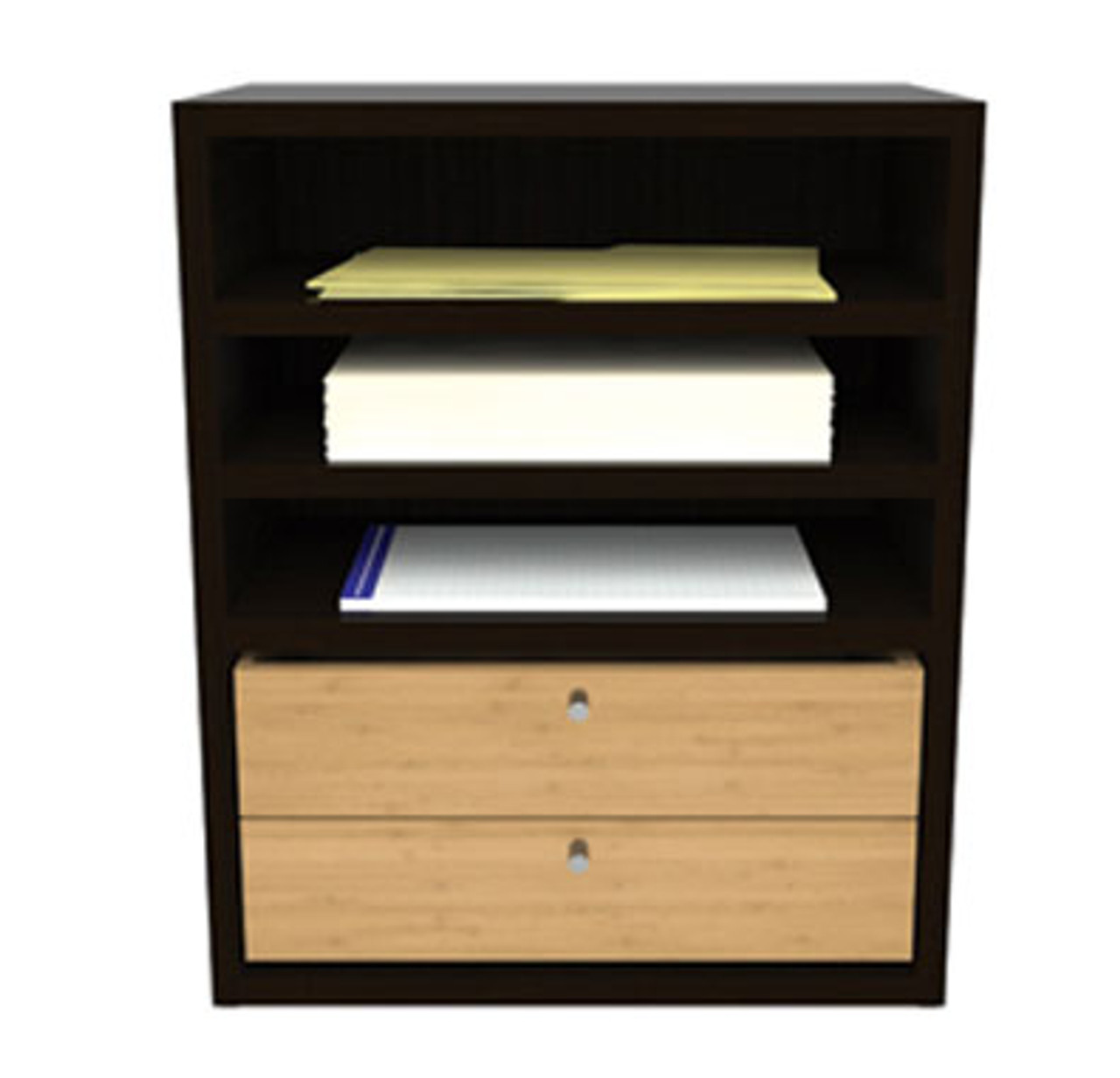 Hutch Paper Organizer with Drawer, #CH-VER-CAB2