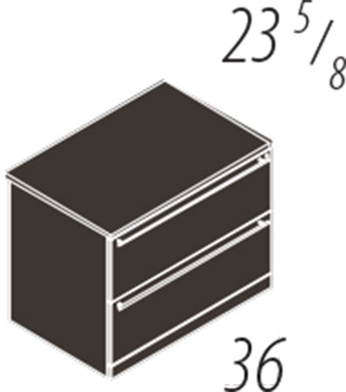 2 Drawers Lateral File Cabinet, #CH-VER-CAB9