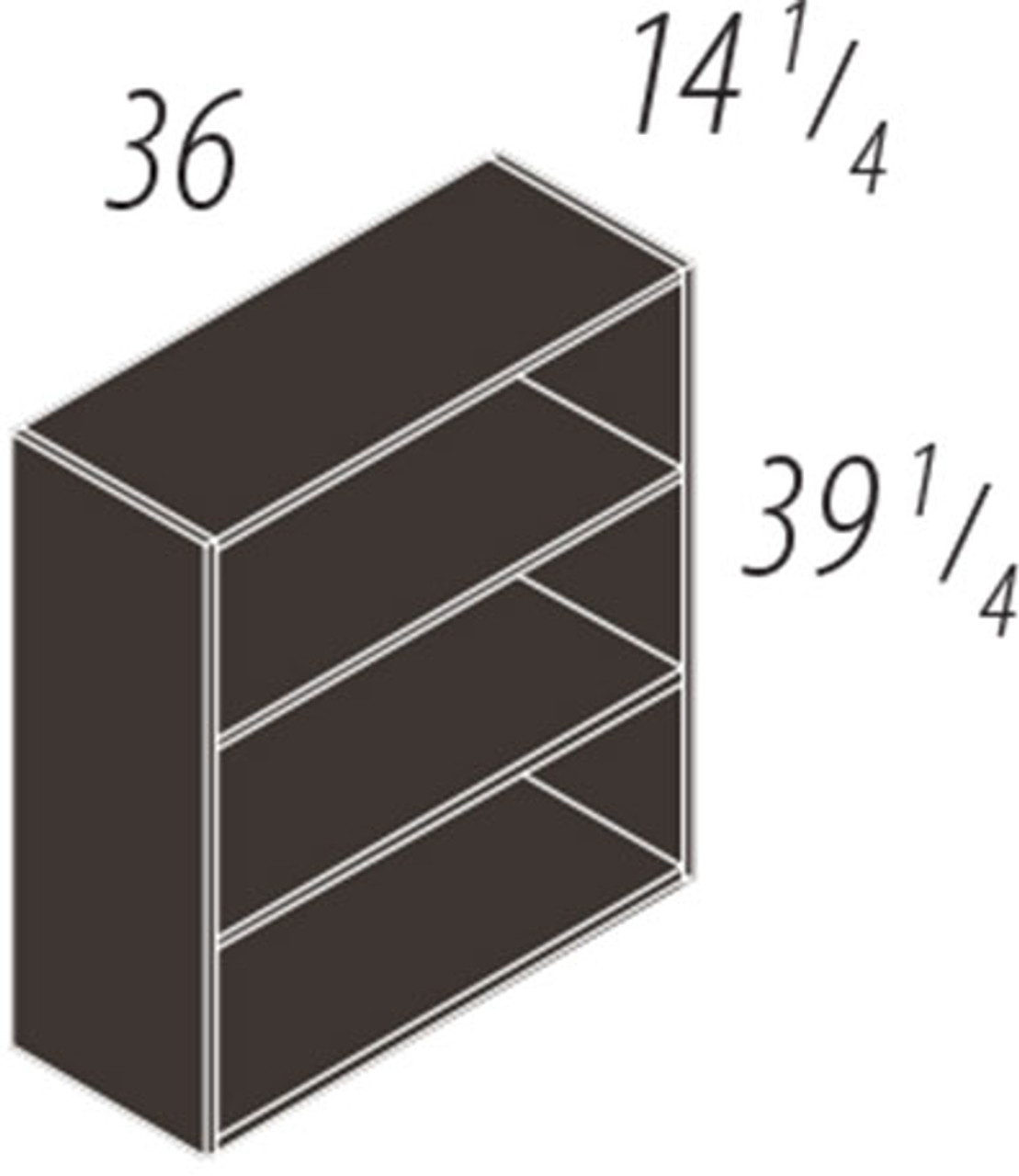"""39.25""""h 2 Shelf Bookcase, #CH-VER-CAB10"""