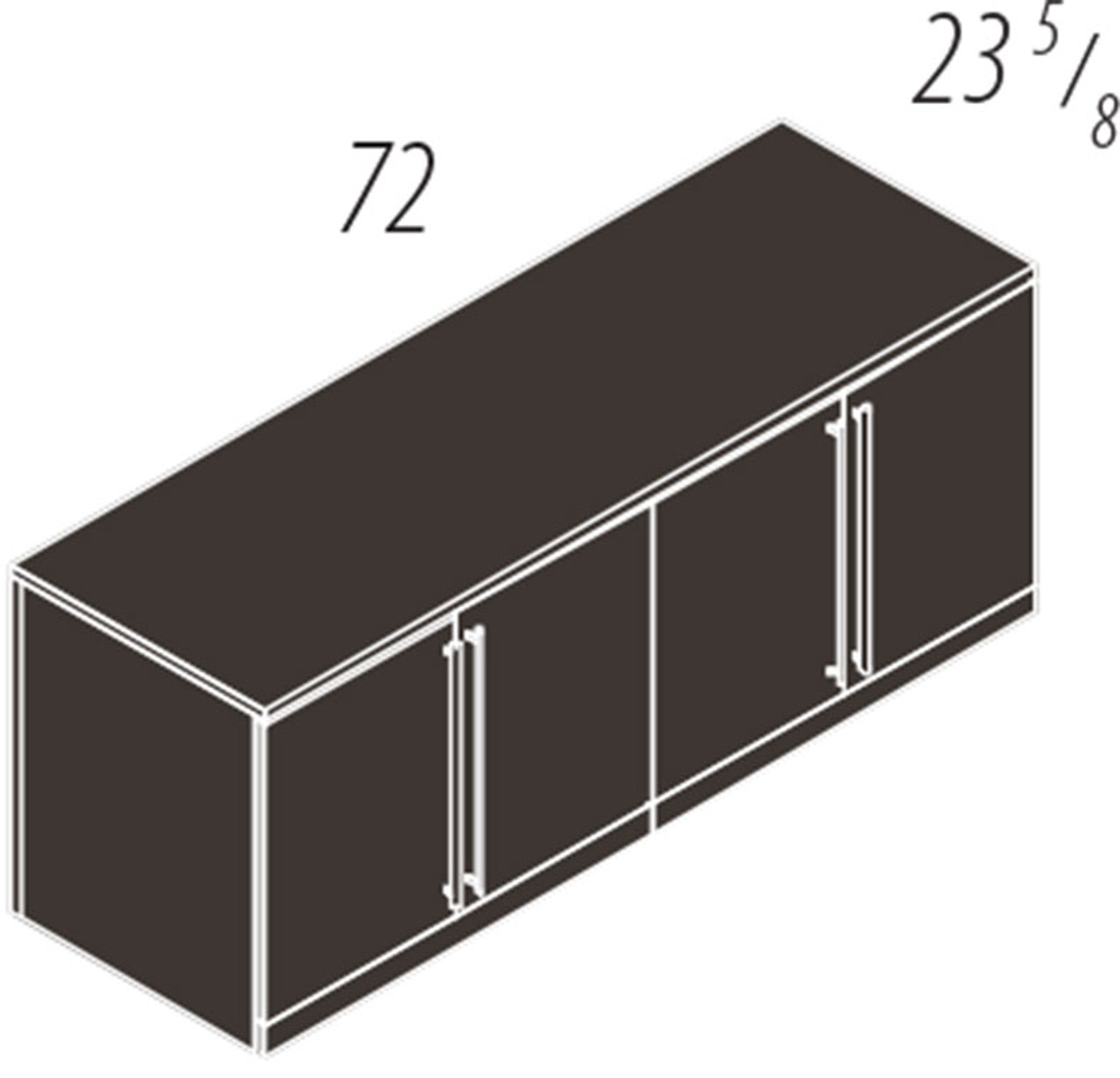 4 Doors Low Wall Cabinet, #CH-VER-CAB12