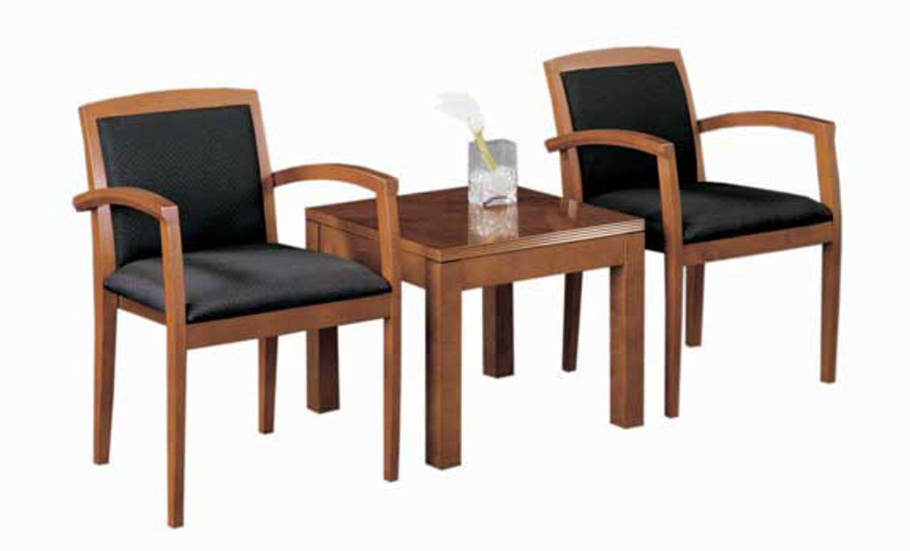 2 Guest Chairs + 1 Coffee Table, #CH-JAD-CAB9