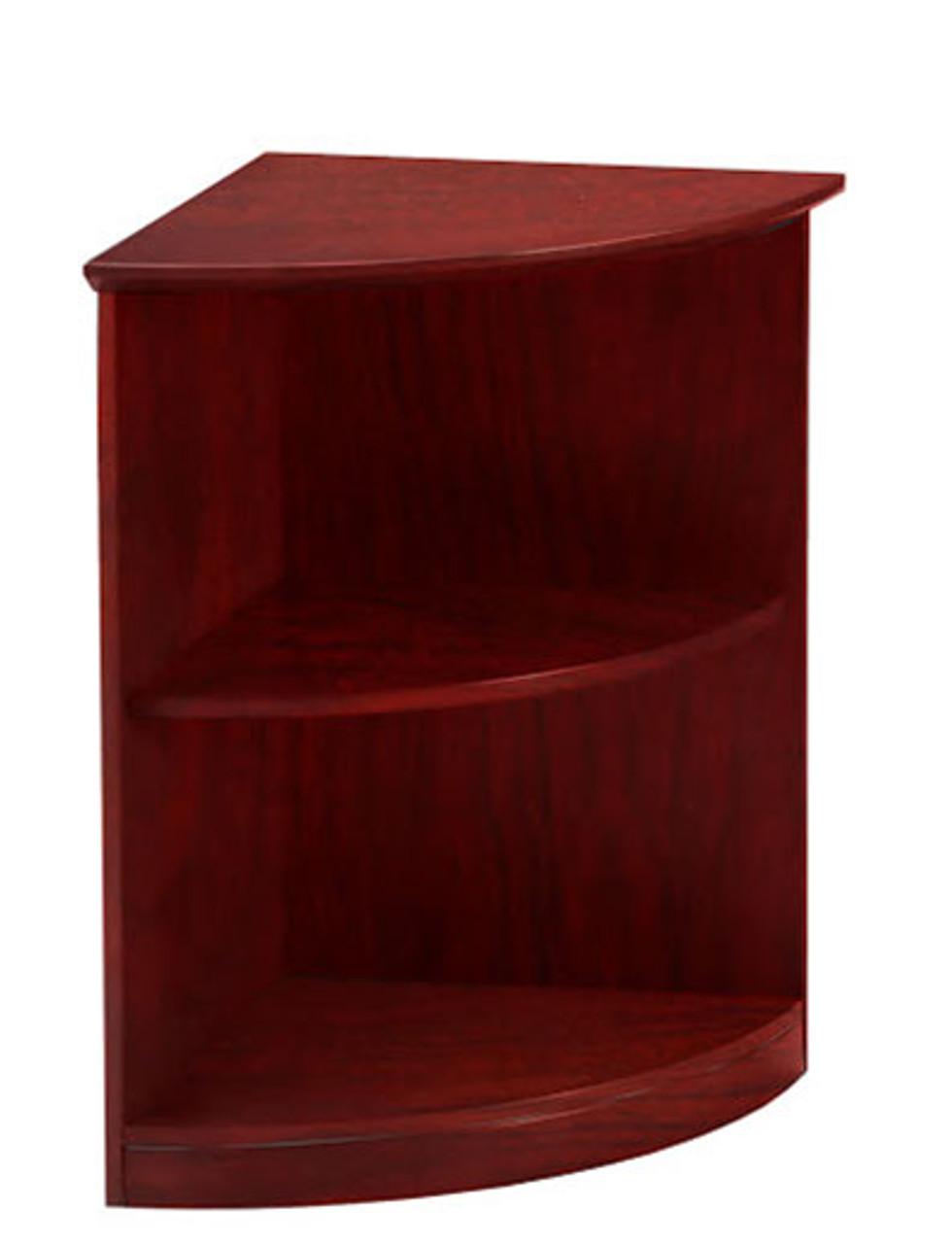 2 Shelf 1/4 Round Bookcase, #MT-MED-CAB4