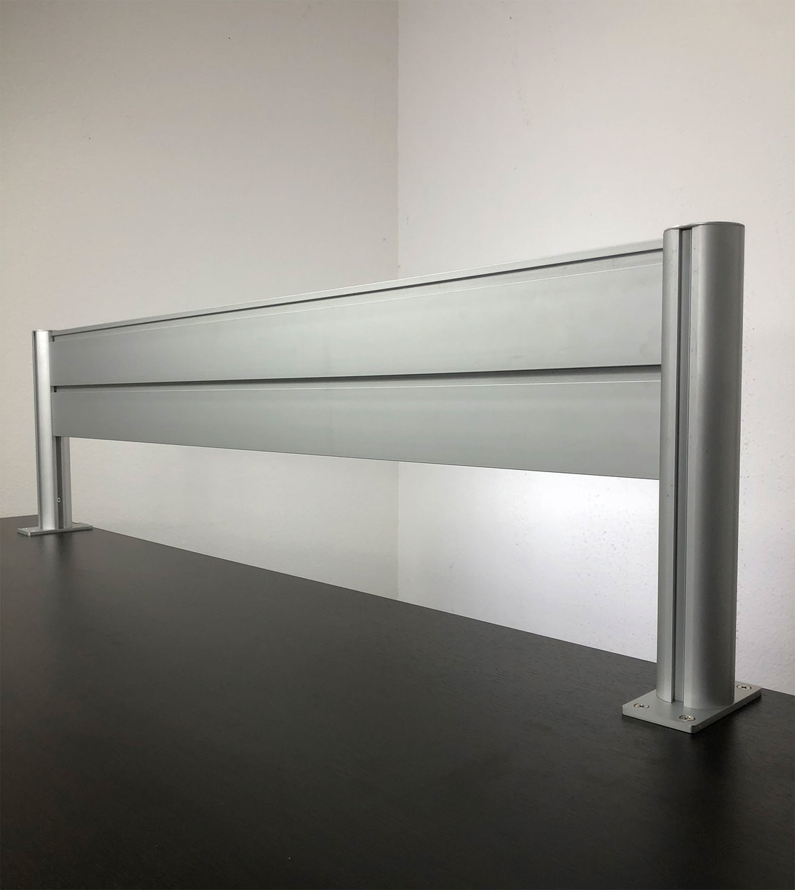 Two Person Modern Aluminum Organizer Divider Office Workstation, #OT-SUL-SPW3